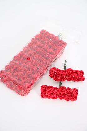 Yapay Çiçek Deposu - 144lü Mini Kağıt Gül Kırmızı
