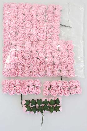 Yapay Çiçek Deposu - 144lü Mini Lateks Gül Pudra