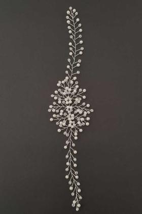 Yapay Çiçek Deposu - Kasino Kristal İnci Gelin Tacı