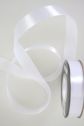 Yapay Çiçek Deposu - 2cm Saten Kurdele 35 Metre Makara Beyaz