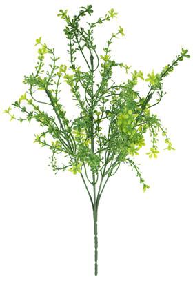 Yapay Çiçek Deposu - 5 Dal Minik Çiçekli Yeşillik Demeti Yeşil