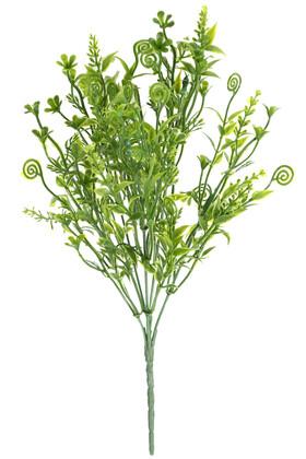 Yapay Çiçek Deposu - Yapay 5 Dal Plastik Tanacetum Demeti Yeşil