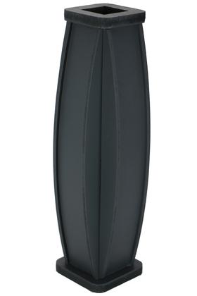 Yapay Çiçek Deposu - 50 cm Siyah Ahşap Vazo Model-2