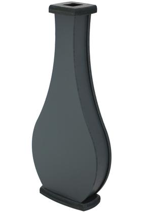 Yapay Çiçek Deposu - 50 cm Siyah Ahşap Vazo Model-3