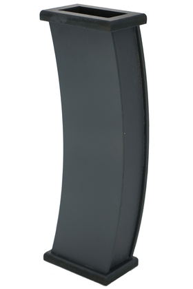 Yapay Çiçek Deposu - 50 cm Siyah Ahşap Vazo Model-4