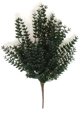 Yapay Çiçek Deposu - 7 Dal Plastik Okaliptus Demeti 35 cm Koyu Yeşil
