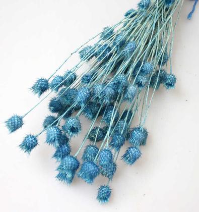 Yapay Çiçek Deposu - Kuru Çiçek Tüllüşah Otu Demeti Açık Mavi