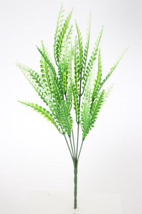 Yapay Çiçek Deposu - 5 Dal Adiantum Yeşillik Demeti Yeşil-Beyaz