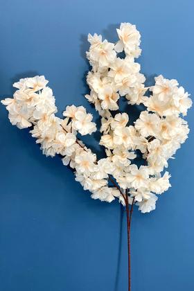 Yapay Çiçek Deposu - Yapay Kaliteli Kabarık Bahar Dalı 95 cm Pudra