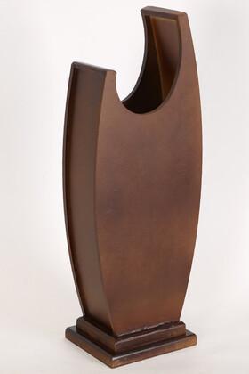Yapay Çiçek Deposu - 50 cm Hilal Model Ahşap Vazo Kahverengi