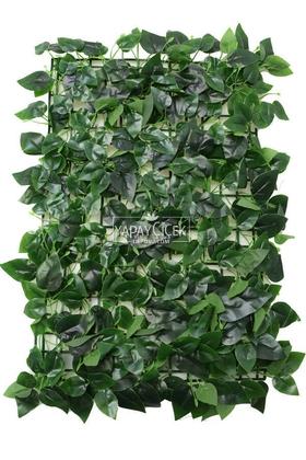 Yapay Çiçek Deposu - Islak Dokulu Oval Yaprak Model Duvar Bitki Kaplaması 40x60 cm