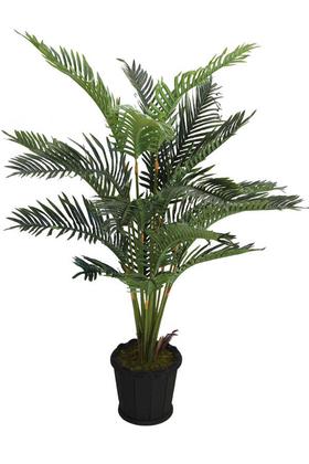 Yapay Çiçek Deposu - Yapay Areka Palmiyesi Oval Saksıda Jumbo 160 cm