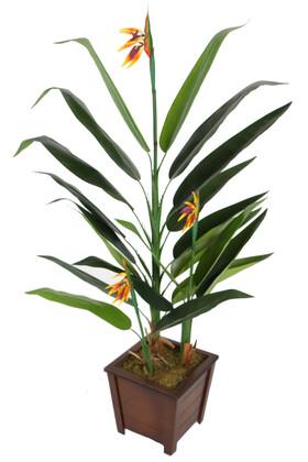 Yapay Çiçek Deposu - Ahşap Saksıda Yapay Çiçekli Starliçe Ağacı 160 cm