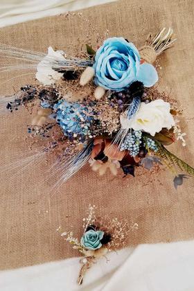 Yapay Çiçek Deposu - Amada Gelin Buketi 2li Set