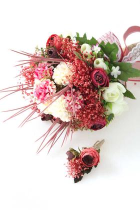 Yapay Çiçek Deposu - Bağdat Gelin Buketi 2li Set