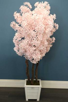 Yapay Çiçek Deposu - Bahar Dalı Ağacı 3 Gövdeli 160cm Açık Pembe