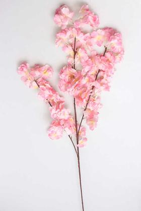 Yapay Çiçek Deposu - Bahar Dalı Dekoratif Yapay Çiçek 100cm Açık Pembe