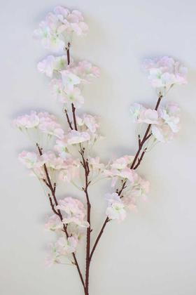 Yapay Çiçek Deposu - Bahar Dalı Dekoratif Yapay Çiçek 110cm Açık Pembe