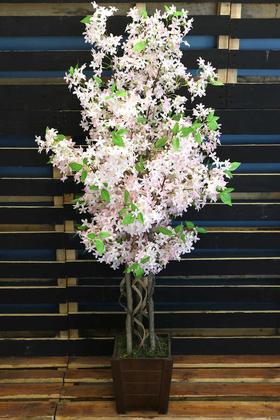 Yapay Çiçek Deposu - Bahar Yasemin Ağacı 3 Gövdeli 140 cm Pudra Pembe