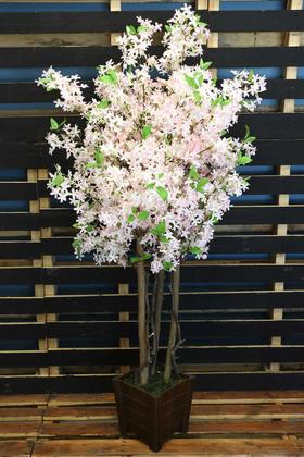 Yapay Çiçek Deposu - Bahar Yasemin Ağacı 3 Gövdeli 150 cm Pudra Pembe