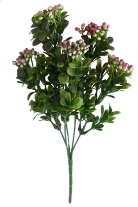 Yapay Çiçek Deposu - Cipsolu Yeşillik Ara Dal Demeti Pembe