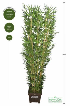 Yapay Çiçek Deposu - Bambu Ağacı 10 Gövde 180 cm(1.Sınıf Yaprak)