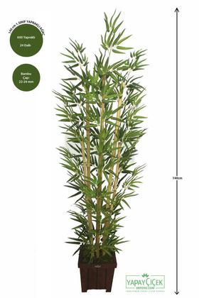 Yapay Çiçek Deposu - Bambu Ağacı 6 Gövde 140 cm(1.Sınıf Yaprak) 600 Yapraklı