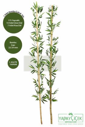 Yapay Çiçek Deposu - 180 cm Yapay 21 Dal Yapraklı Gerçek Bambu