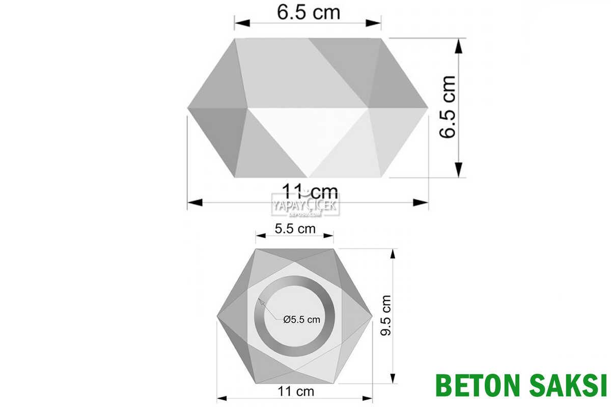 Beton Saksıda Yapay Bitki 3lü Set Model 1