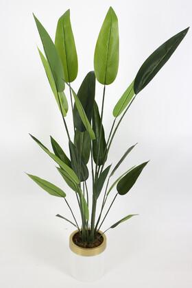 Yapay Çiçek Deposu - Metal Saksıda Yapay Starliçe Ağacı 170 cm