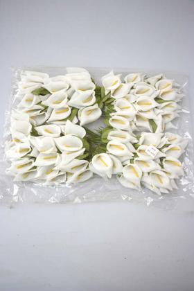 Yapay Çiçek Deposu - 144lü İri Lateks Gala Beyaz