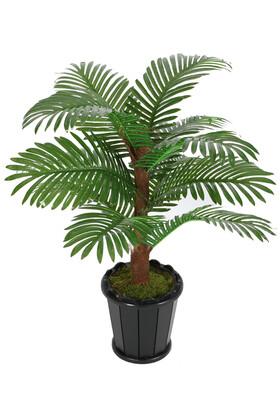 Yapay Çiçek Deposu - Kokos Gövdeli Yapay Areka Palmiyesi 12 Yapraklı 110 cm