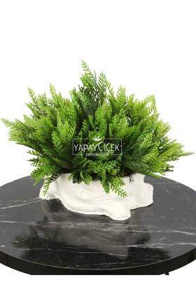 Yapay Çiçek Deposu - Kütük Görünümlü Saksıda Yapay Mazı Çamı Tanzimi