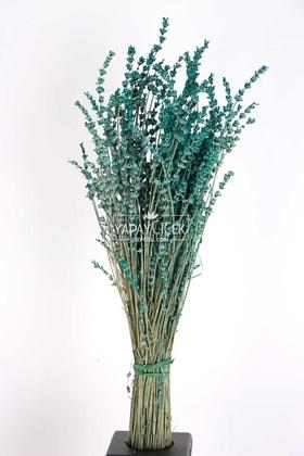Yapay Çiçek Deposu - Şoklanmış Dökülmeye Dayanıklı Gerçek Lavanta Demeti Yeşil (100 gr)