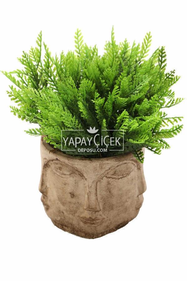 Buda Saksıda Yapay Mazı Bitki Tanzimi 20 cm (Eskitme)