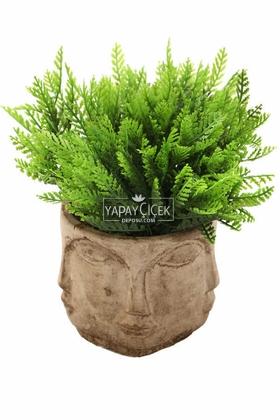 Buda Saksıda Yapay Mazı Bitki Tanzimi 20 cm (Eskitme) - Thumbnail