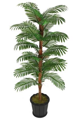 Yapay Çiçek Deposu - Kokos Gövdeli Yapay Areka Palmiyesi 24 Yapraklı 180 cm
