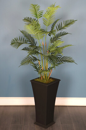 Yapay Çiçek Deposu - Elite Model Saksıda Yapay Areka Palmiye Ağacı 180 cm