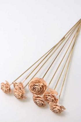 Yapay Çiçek Deposu - Cedar Rose 7li Demet 45 cm Açık Somon