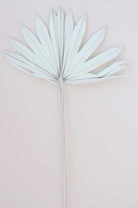 Yapay Çiçek Deposu - 4lü Kuru Tropic Palmiye Yaprağı 40 cm Uçuk Mavi