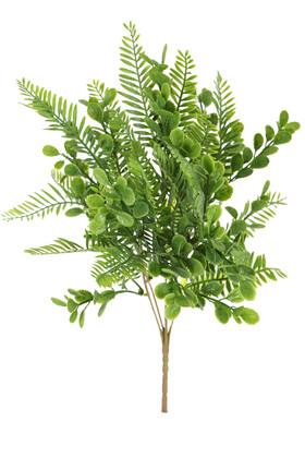 Yapay Çiçek Deposu - 5 Dal Dekor Yeşillik Demeti 35 cm Yeşil