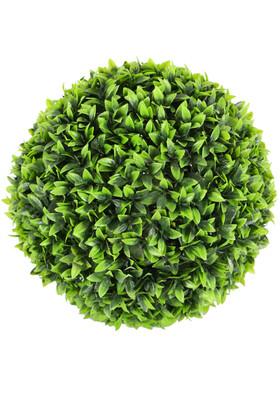 Yapay Çiçek Deposu - Dekoratif Yapraklı Şimşir Top 35 cm