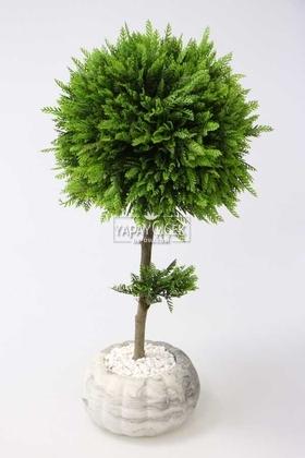 Yapay Çiçek Deposu - Dekoratif Lüx Top Çam Ağacı 30x60 cm