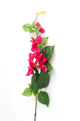 Yapay Çiçek Deposu - Dekoratif Lüx Yapay Begonvil Dalı 80cm