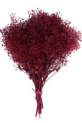 Yapay Çiçek Deposu - Kuru Çiçek Cipso Demeti Bordo