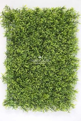 Yapay Çiçek Deposu - Yapay Boncuk Model Duvar Bitki Kaplaması 40x60 cm Yeşil