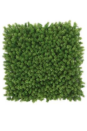 Yapay Çiçek Deposu - Yapay Çamdalı Model Duvar Bitki Kaplaması 50x50 cm Açık Yeşil