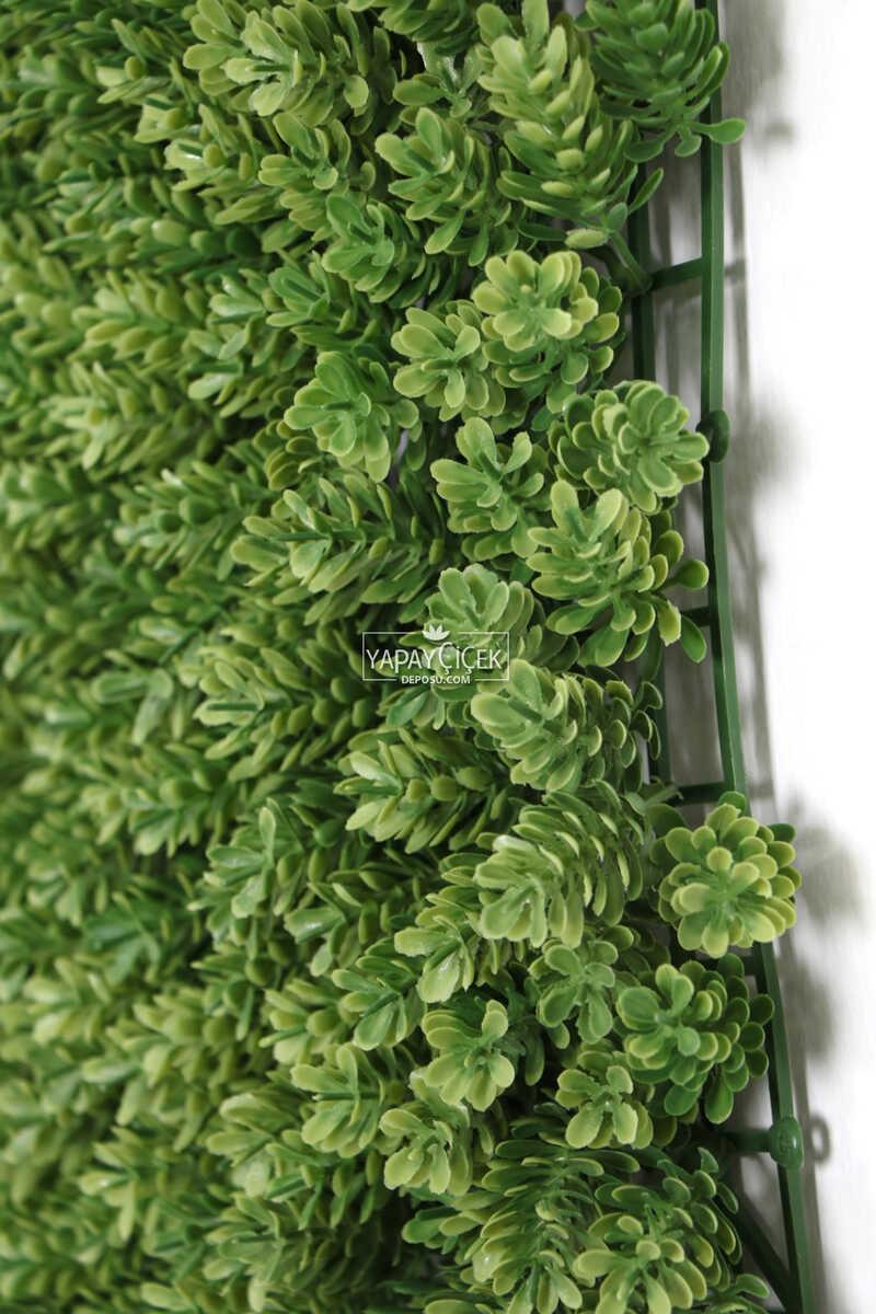 Yapay Çamdalı Model Duvar Bitki Kaplaması 50x50 cm Açık Yeşil