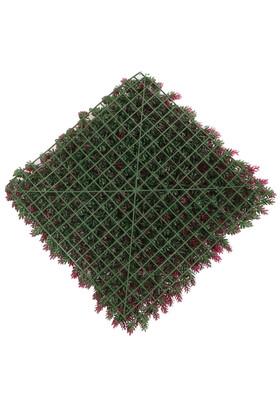 Yapay Çamdalı Model Duvar Bitki Kaplaması 50x50 cm Yeşil-Fuşya - Thumbnail