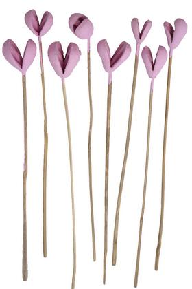 Yapay Çiçek Deposu - 8li Benzo Tropic Fruit Kuru Çiçek Lila